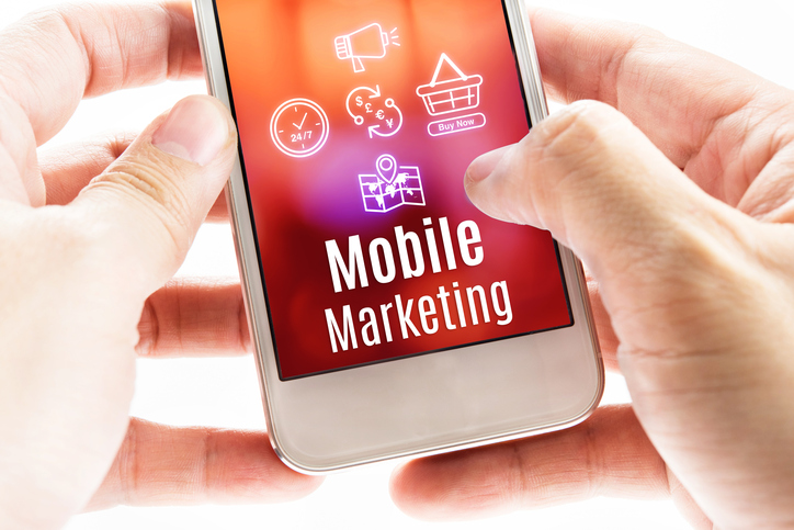 Mobile marketing on cell phone